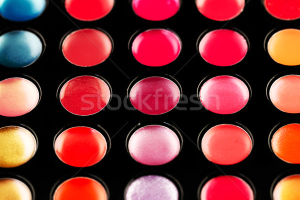 Lip gloss palette Stock photo © Nneirda
