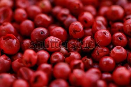 Roze peper macro foto voedsel hout Stockfoto © Nneirda