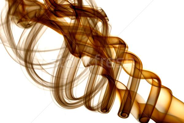 Marrom fumar branco fogo luz projeto Foto stock © Nneirda