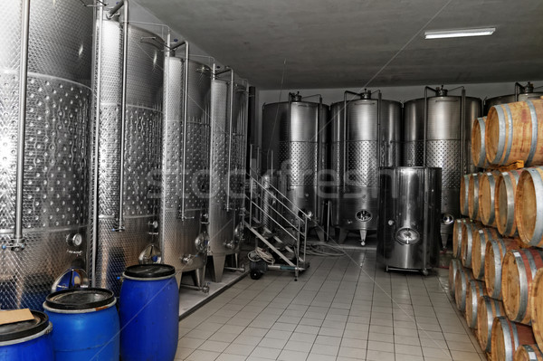 Stock photo: Winery in the factory