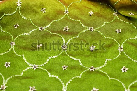 Rose vert satin textiles fond Photo stock © Nneirda