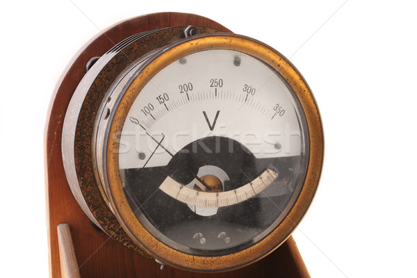 Stock photo: Voltmeter
