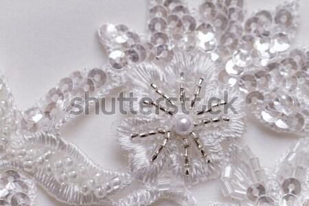 Esküvői ruha öv fotó esküvő szeretet szépség Stock fotó © Nneirda
