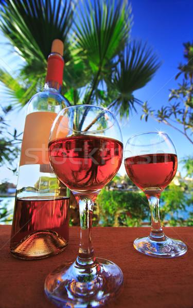 two wineglasses Stock photo © Nneirda