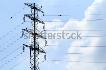 Detail of electricity pylon against Stock photo © Nneirda