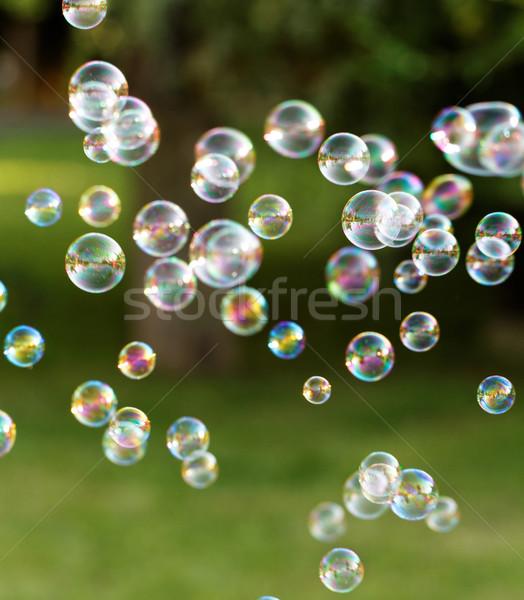 Zeepbellen regenboog bubbels bubble blazer ontwerp Stockfoto © Nneirda