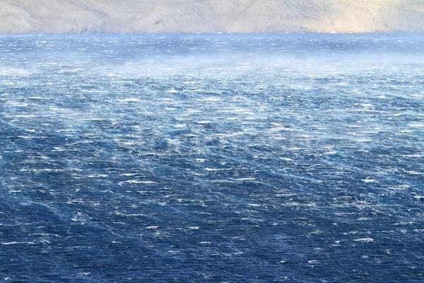Foto stock: Mar · furioso · ondas · vento · água