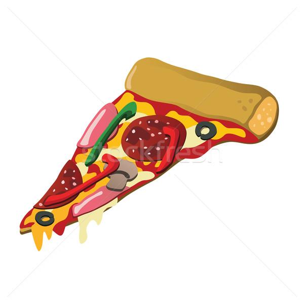 Stock fotó: Pizza · szelet · finom · különböző · ízletes · étel · pizza