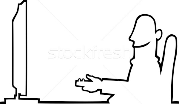 Person watching television Stock photo © Noedelhap