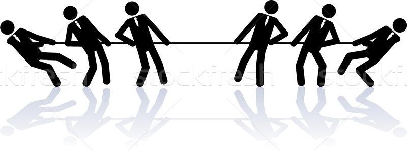 Corda pessoas de negócios negócio vara pessoas Foto stock © Noedelhap
