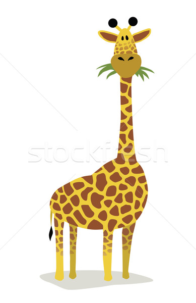 Cartoon giraffe Stock photo © Noedelhap
