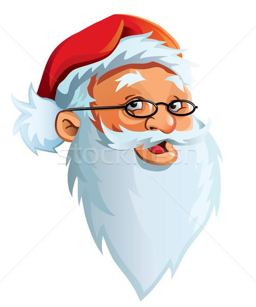 Santa Claus' face Stock photo © Noedelhap