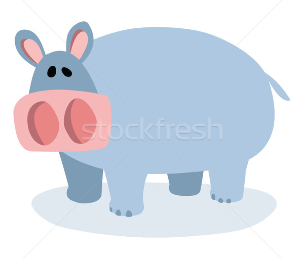 Cartoon hippopotamus Stock photo © Noedelhap