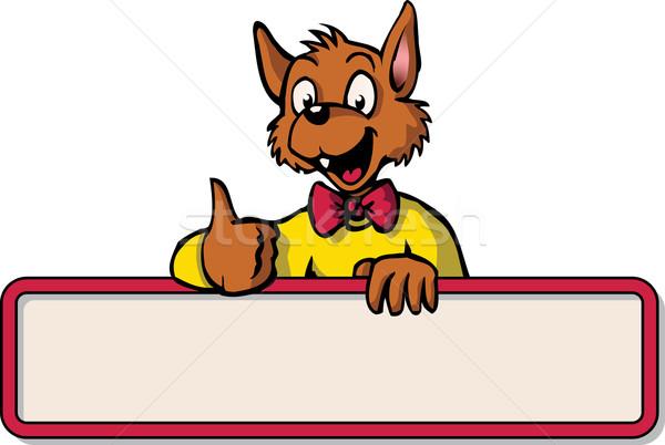 Happy cartoon mouse with bulletin board Stock photo © Noedelhap