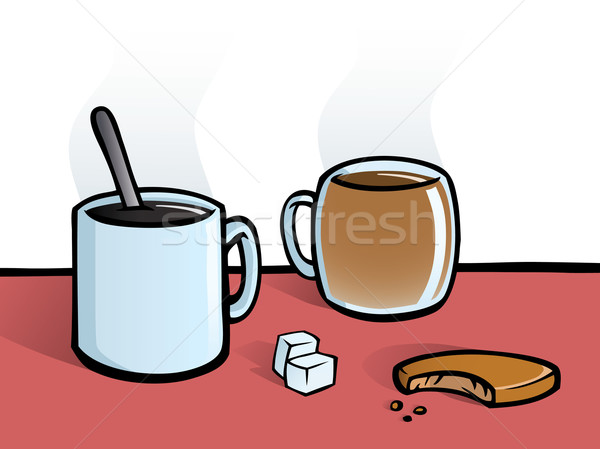 Coffee and tea Stock photo © Noedelhap