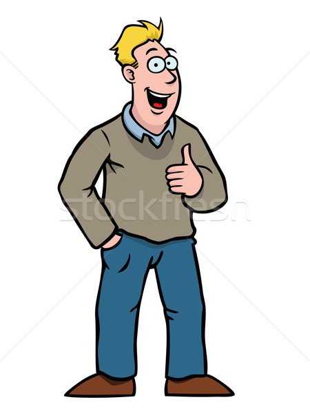 Stock photo: Man With Thumbs Up