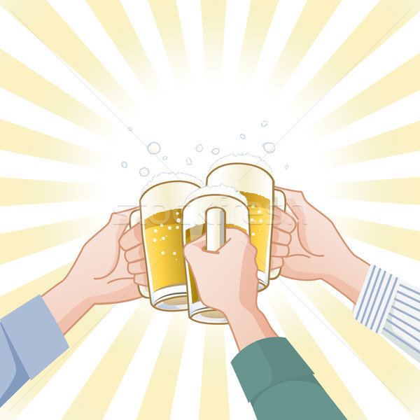 Toasting with beer Stock photo © norwayblue