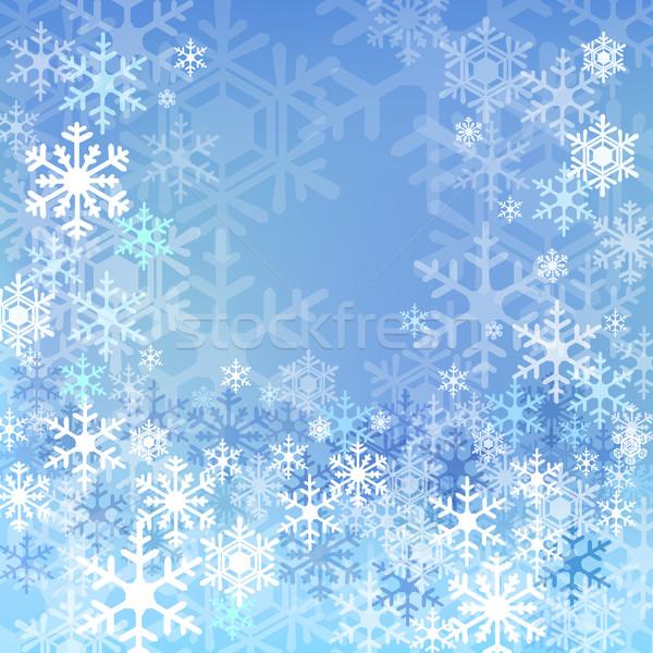 Blue snow background Stock photo © norwayblue