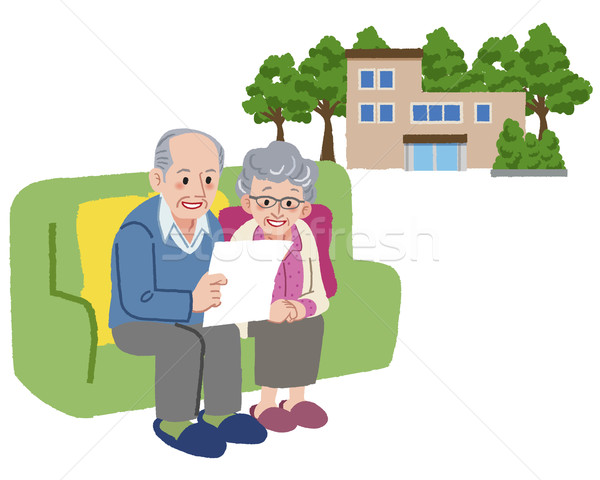Senior couple planning to move their retirement home Stock photo © norwayblue