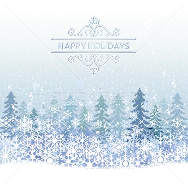 зима праздник синий снега декораций прозрачность Сток-фото © norwayblue