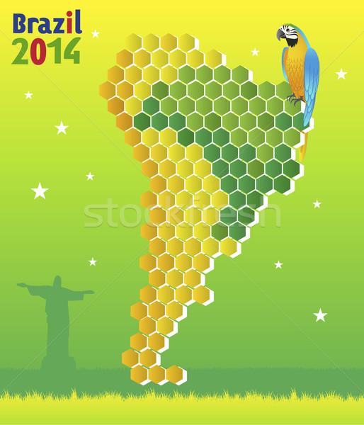 Brazylia Pokaż ameryka Łacińska tle ptaków gwiazdki Zdjęcia stock © norwayblue