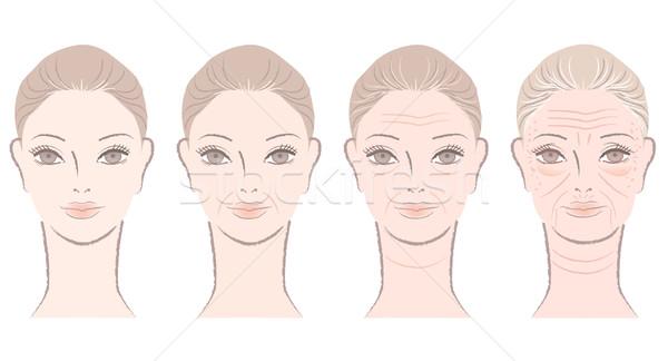 старение процесс красивая женщина красивой взрослый Сток-фото © norwayblue