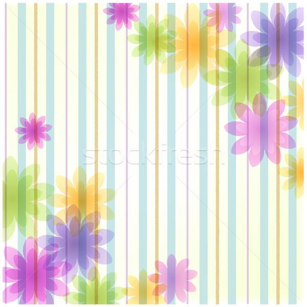 Stripe floral background Stock photo © norwayblue