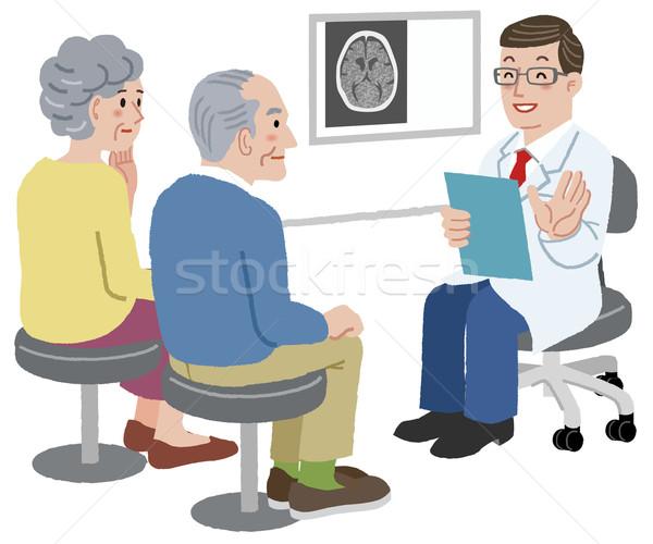 врач говорить пациент семьи сканирование экзамен Сток-фото © norwayblue