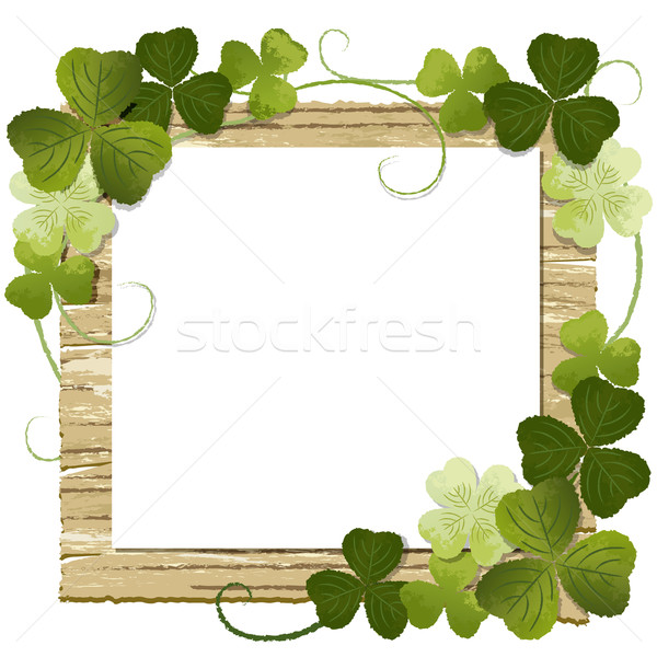 Clover framed message board Stock photo © norwayblue