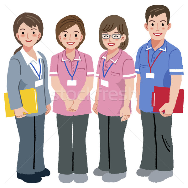 Geriatric care manager and social workers Stock photo © norwayblue