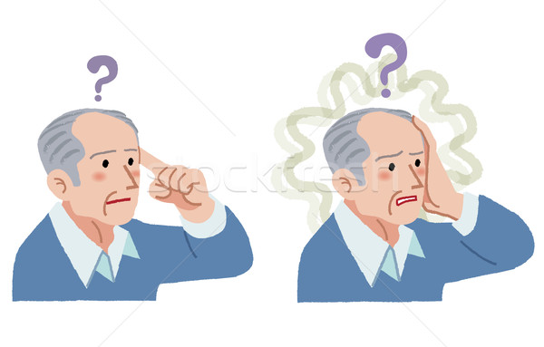 senior man with gesture of having forgotten something Stock photo © norwayblue