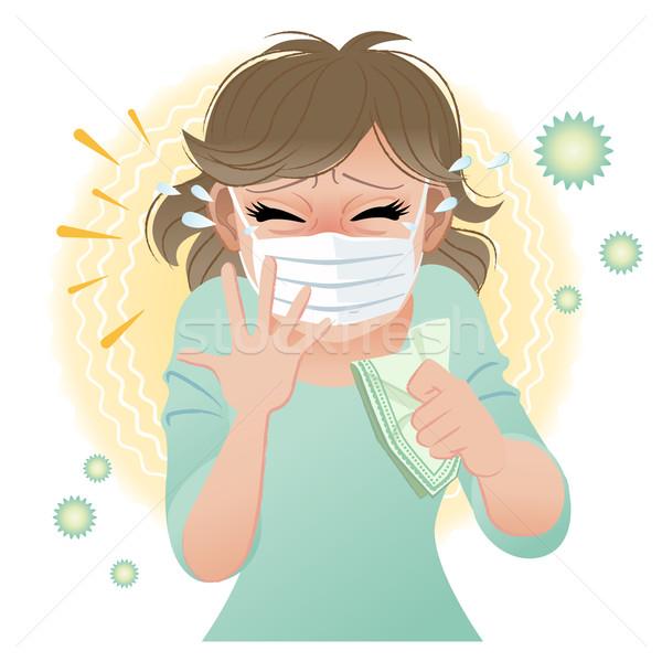 большой женщину страдание пыльца Сток-фото © norwayblue