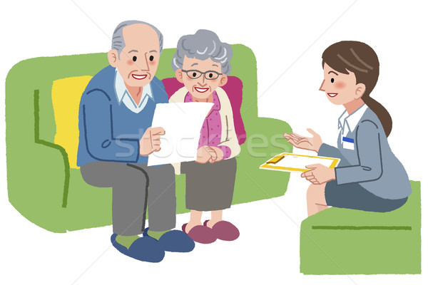 Elderly couple meeting with Geriatric care manager  Stock photo © norwayblue