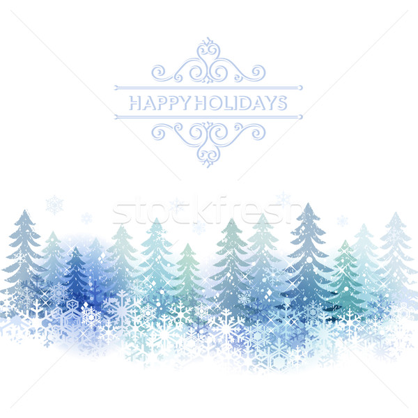 Holiday background with snow scenery Stock photo © norwayblue