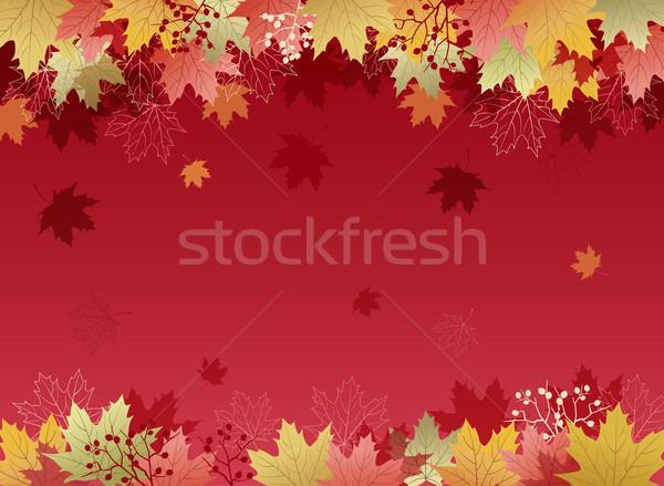 Herbst Ahorn Blätter Maske Bilder Gradienten Stock foto © norwayblue
