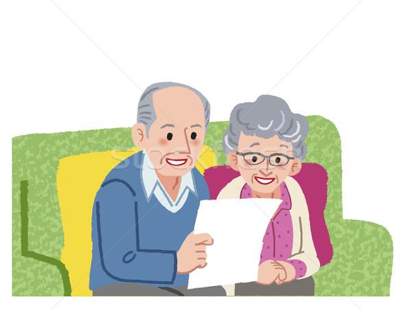 Senior couple planning their travel  Stock photo © norwayblue