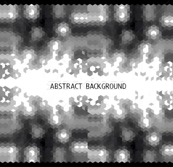 черно белые аннотация треугольник мозаика файла Сток-фото © norwayblue