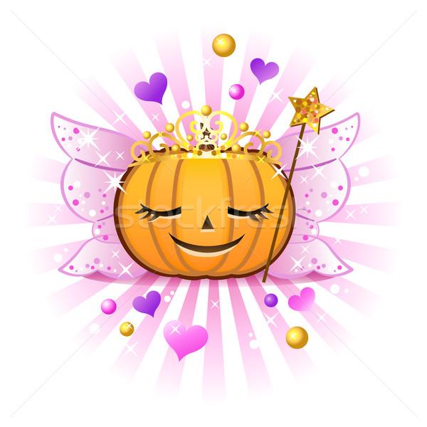 Halloween pumpkin Jack o lantern in fairy princess costume EPS10 Stock photo © norwayblue