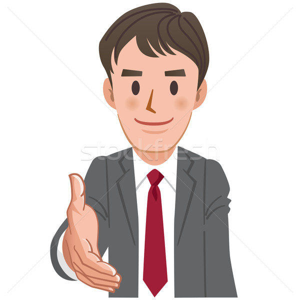 Cartoon Businessman extending for a handshake Stock photo © norwayblue