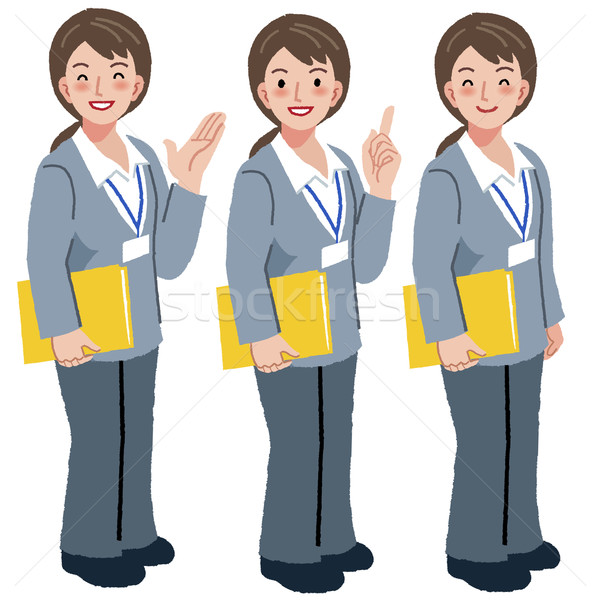 Geriatric care manager in different gestures Stock photo © norwayblue