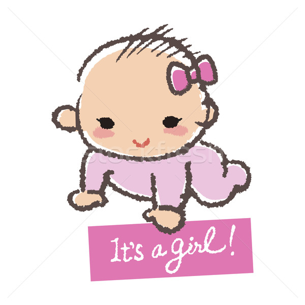 Baby shower concept- it's a girl! Stock photo © norwayblue