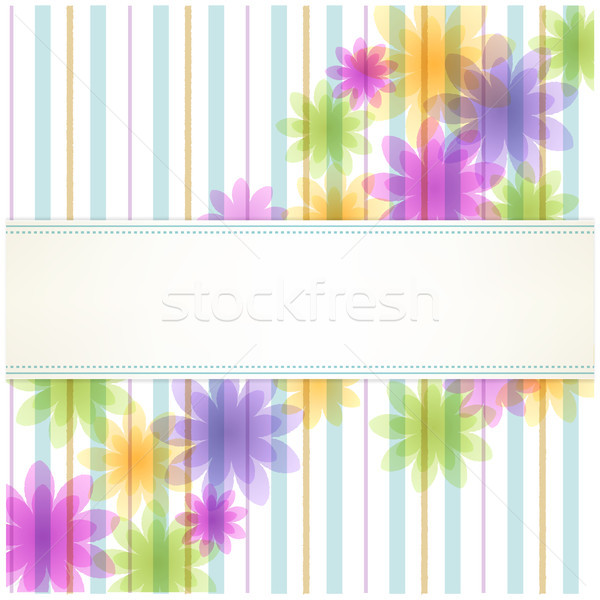 полоса цветочный копия пространства скопировать прозрачность градиенты Сток-фото © norwayblue