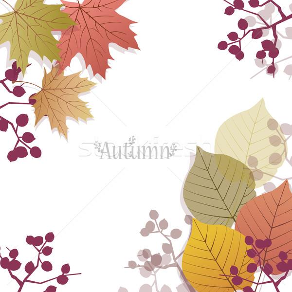 красивой сезонный Ягоды пространстве текста Сток-фото © norwayblue
