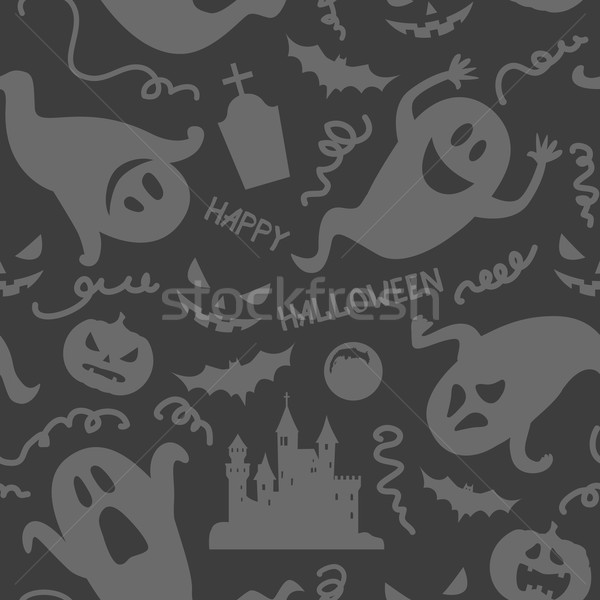 Foto stock: Halloween · fantasma · engraçado · preto · cinza