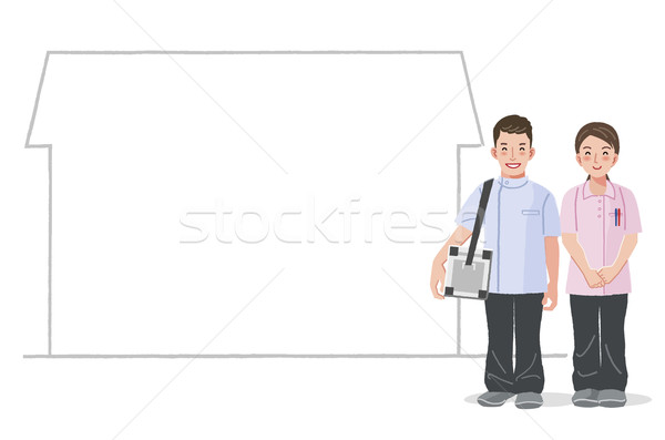 Medical care service at home Stock photo © norwayblue