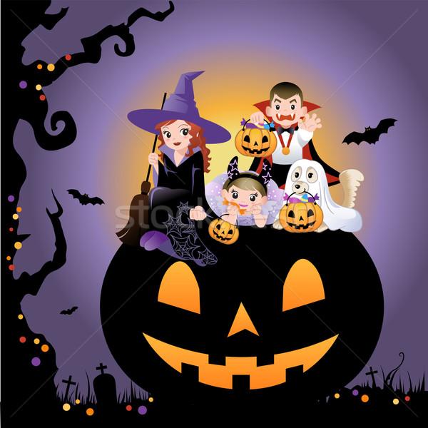 Хэллоуин детей костюм огромный девушки Сток-фото © norwayblue