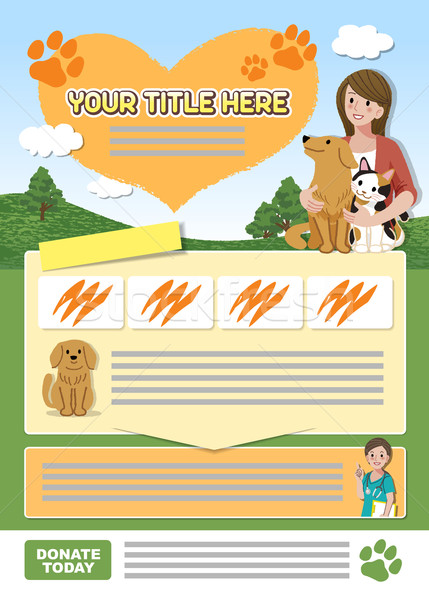 Animal leaflet design template  Stock photo © norwayblue