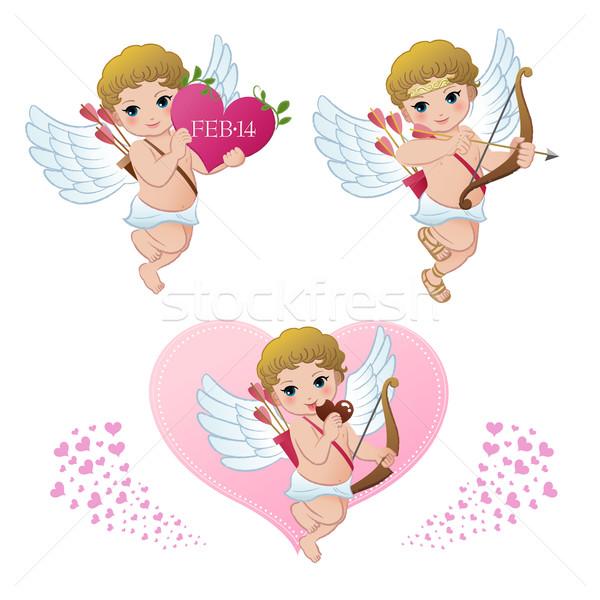 Kolekcja walentynki gradienty baby szczęśliwy dziecko Zdjęcia stock © norwayblue