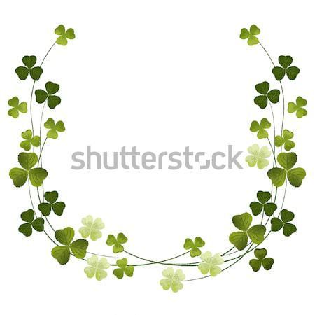 Shamrocks decoration frame Stock photo © norwayblue