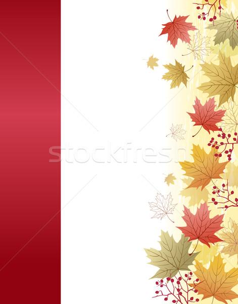 осень клен листьев маске Сток-фото © norwayblue